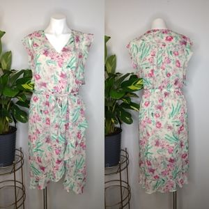 A New Day pink floral dress size L